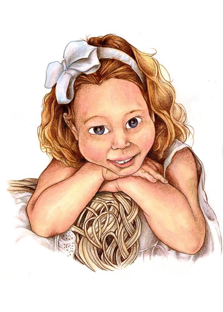 Blond Haired Girl by Steven Novak