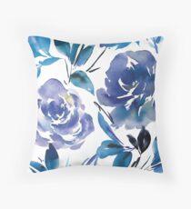 Royal Blue Garden Throw Pillow
