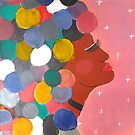 Colorful Afro Girl by Kamira Gayle