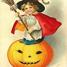 Vintage Halloween Greeting Cards Classic Posters by jnniepce