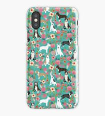 Bull Terrier dog breed pattern florals dog lover gifts pet friendly designs iPhone Case/Skin