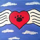 Paw Angel Wings by Kamira Gayle
