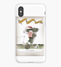 Vintage Football Red White Stripes Team Captain iPhone Case/Skin