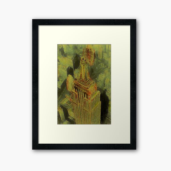 Empire State Building Reworked No. 17, Series 1b Framed Art Print
