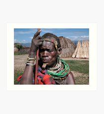 TRIBAL LADY - ETHIOPIA Art Print