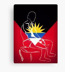 Custom Stencil Man (Antigua)  Canvas Print