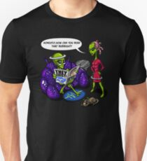 Alien Funny Humans Aren't Real Cute UFO Space T-Shirt