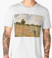 MONET, Claude, Wild Poppies, Near Argenteuil, Poppy, Poppies, Artist, Art, Painter, Oil Painting, Canvas, Coquelicots, La promenade, 1873, Musée d'Orsay, Paris Men's Premium T-Shirt