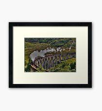 The Jacobite Steam Train, Glenfinnan Viaduct, Scotland. Framed Print