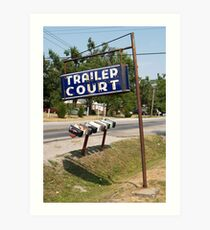 Trailer Court Mail Boxes Art Print