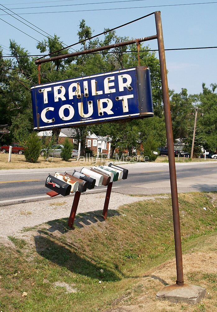 Trailer Court Mail Boxes by Sally P  Moore