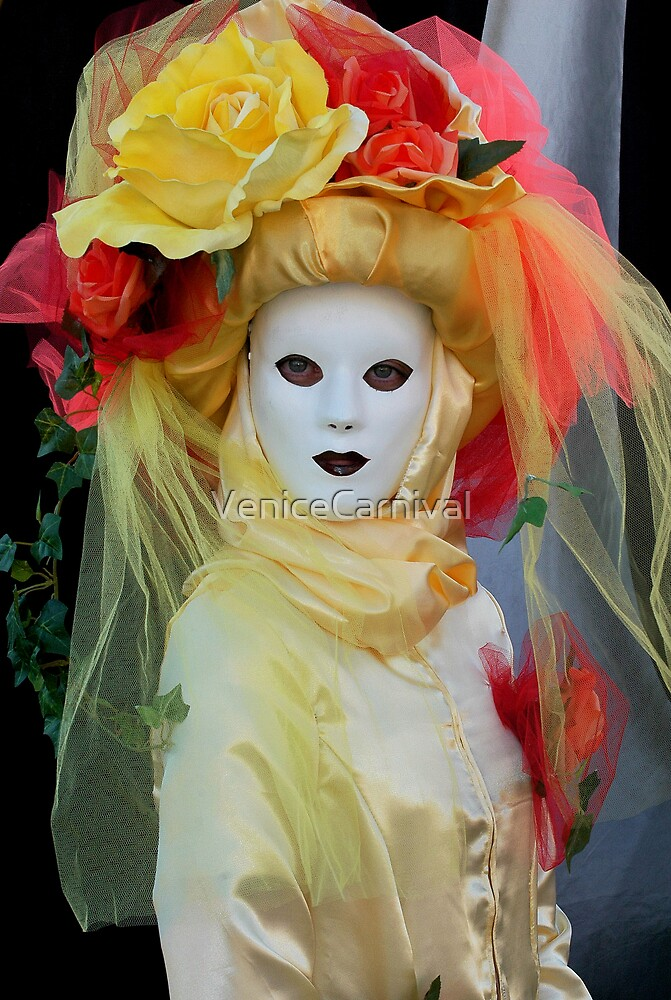 Lady in Yellow by VeniceCarnival