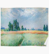 Claude Monet - The Wheat Field Poster