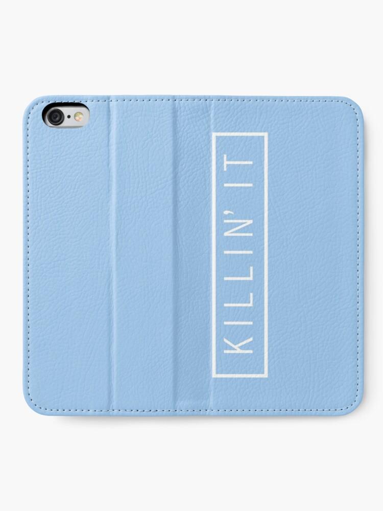 Alternative Ansicht von tötet es - Pastellblau iPhone Flip-Case