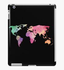 rainbow watercolor continents iPad Case/Skin