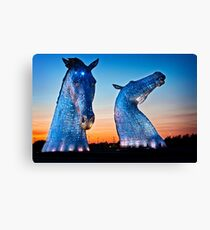 EVENING FALLS ON THE KELPIES Canvas Print