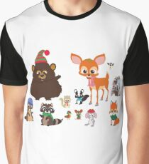 Woodland Critters Graphic T-Shirt