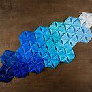 Origami One-One-Nine Blue by LeeMoDesigns