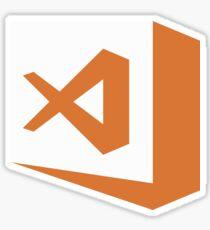 visual studio code stable (white square) Sticker