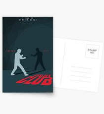 Fight Club Silhouette - Minimal Poster Art  Postcards