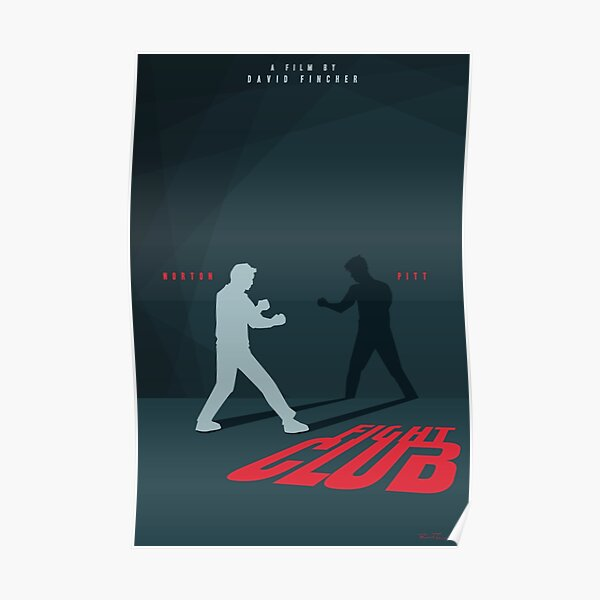Movie Book Art Poster Print Fight Club Spirit Animal Penguin Slide