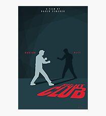 Fight Club Silhouette - Minimal Poster Art  Photographic Print