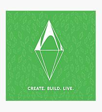 Create. Build. Live. Photographic Print
