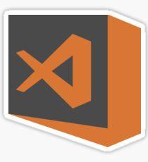 visual studio code stable (dark square) Sticker