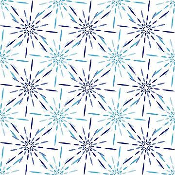 «feu d'artifice bleu» par Omelia-Plude