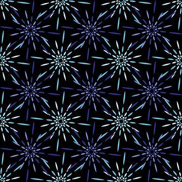 «feu d'artifice bleu, nuit d'hiver» par Omelia-Plude