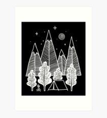 Camp Line Art Print