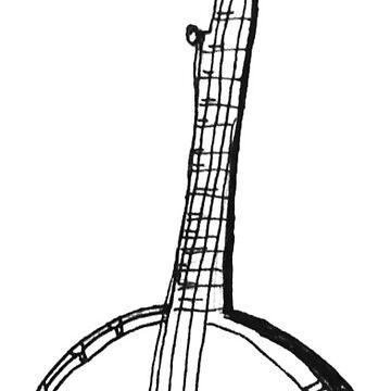 Banjo Stencil  by SarahRedShoes
