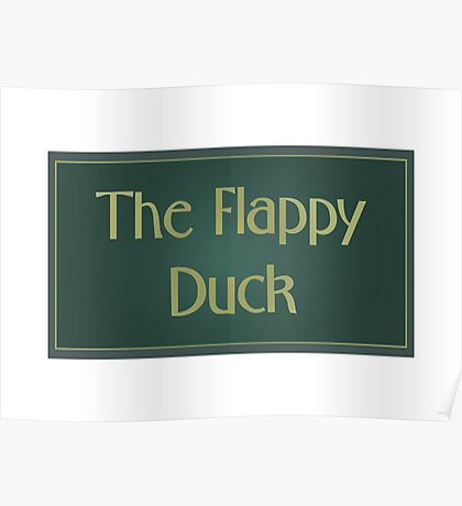 The Flappy Duck - The IT Crowd Poster