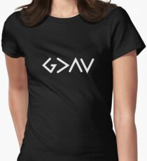 God Is Greater Than The Highs and Lows Christian Design Women's Fitted T-Shirt