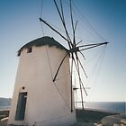 windmill of Mykonos, Greece by tara romasanta