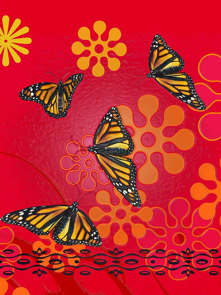 Butterfly card by chinet
