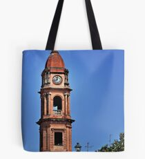 Italian Church Bell Tower at the City of Bra Piedmonte Tote Bag
