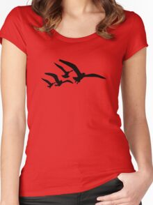 Flying seagulls Women's Fitted Scoop T-Shirt
