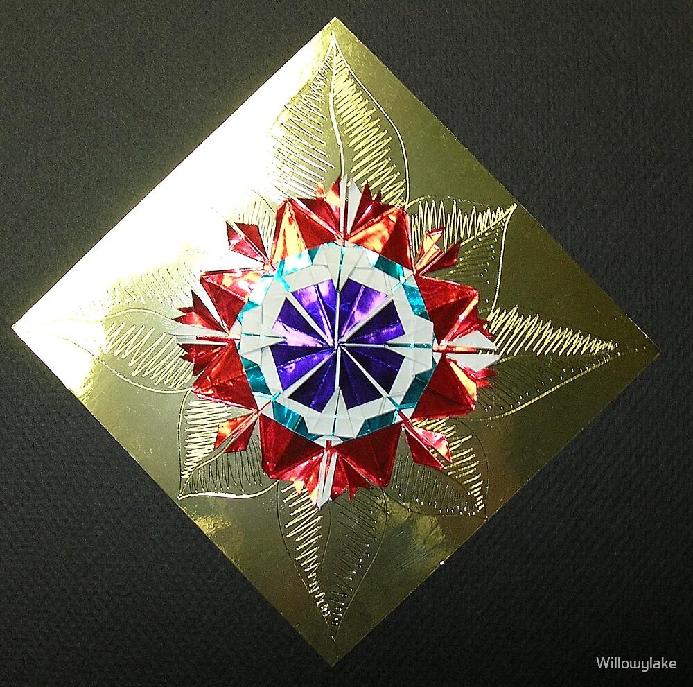 Metallic Kirigami Flower by Willowylake