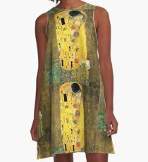 The Kiss - Gustav Klimt A-Line Dress