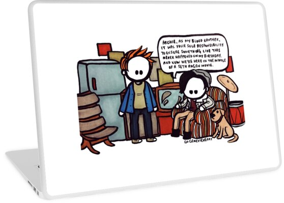 'Jarchie Now We're in the Middle of a Seth Rogen Movie' Laptop Skin by  gogenevieve