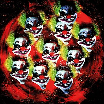 Halloween horror clown collage by cglightNing