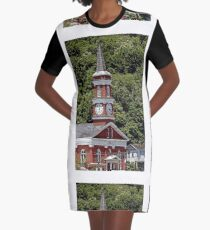 Church building Graphic T-Shirt Dress