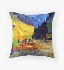 Cafe Terrace at Night - Van Gogh Throw Pillow