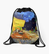 Cafe Terrace at Night - Van Gogh Drawstring Bag