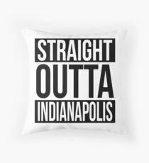 Straight Outta Indianapolis Throw Pillow