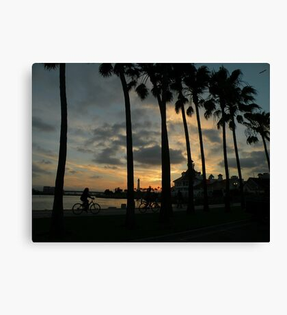 Ride into the Sunset... Canvas Print