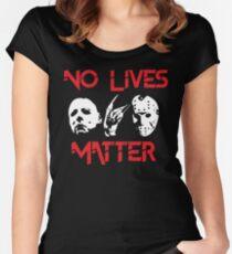No Lives Matter Women's Fitted Scoop T-Shirt