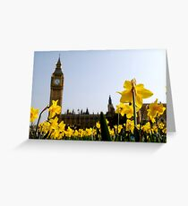 Big Ben with Daffodils Greeting Card