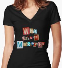 Who Killed Markiplier? Women's Fitted V-Neck T-Shirt